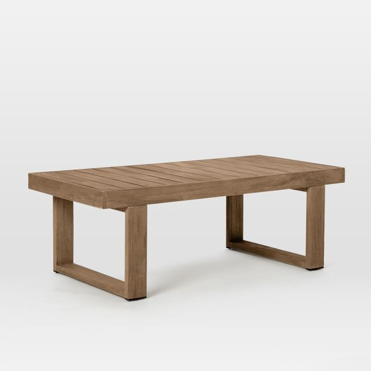 West Elm Portside Outdoor Coffee Table , Driftwood - image-1