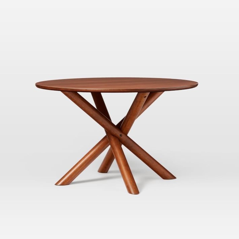 West Elm Jax Round Dining Table, Walnut - image-0