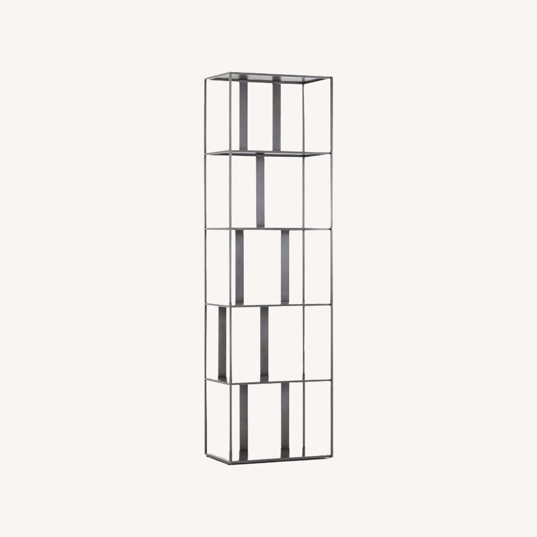 West Elm Modern Industrial Narrow Bookshelf - image-0