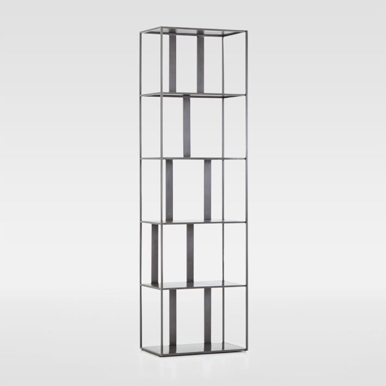 West Elm Modern Industrial Narrow Bookshelf - image-1