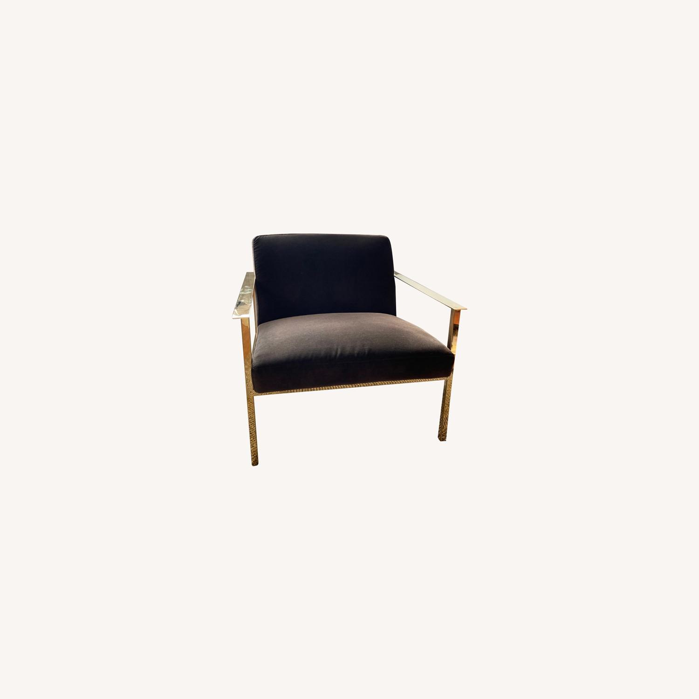 CB2 Black Velvet Accent Chairs - image-0