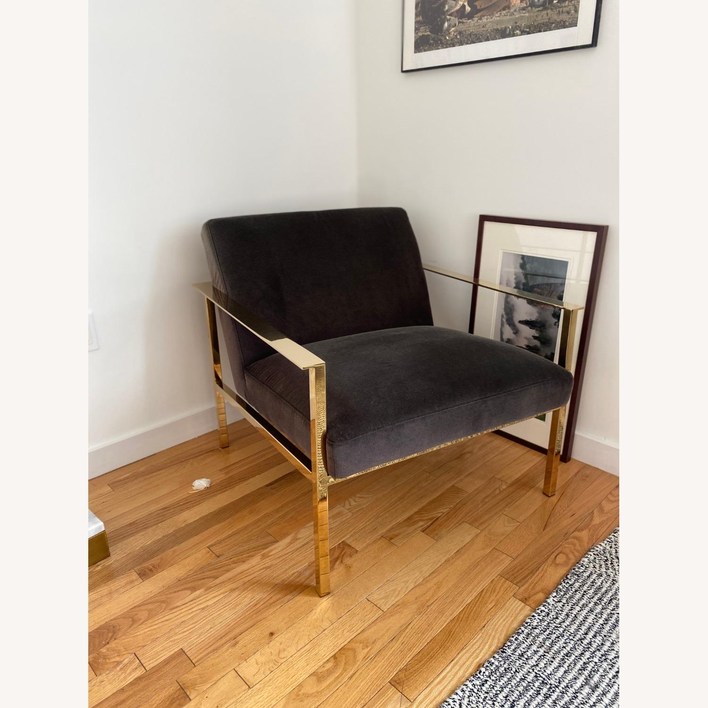 CB2 Black Velvet Accent Chairs - image-3