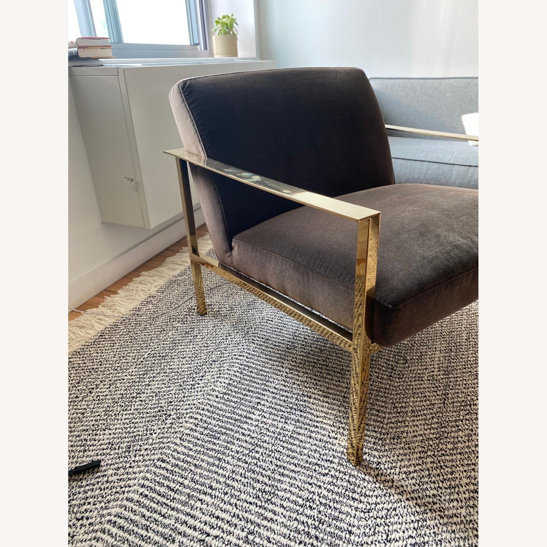 CB2 Black Velvet Accent Chairs - image-2