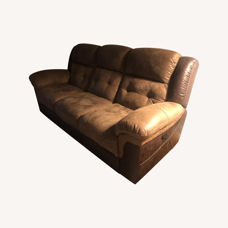 Bob's Discount Furniture Reclining 3 Seater Sofa - image-0