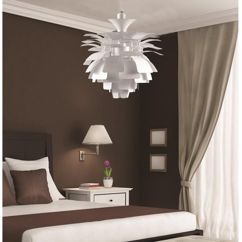 Lamp In Artichoke Leaf Design Silver Finish - image-2