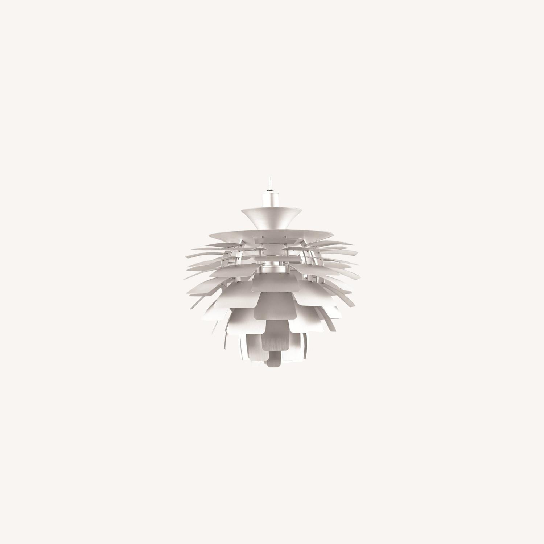 Lamp In Artichoke Leaf Design Silver Finish - image-4