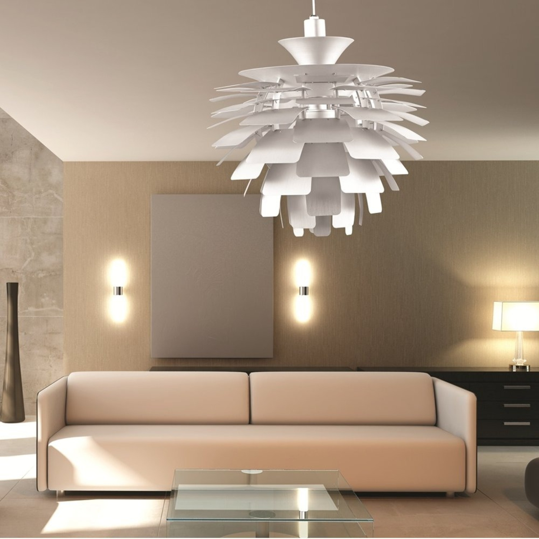Lamp In Artichoke Leaf Design Silver Finish - image-3