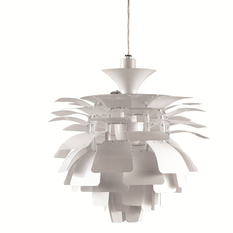 Lamp In Artichoke Leaf Design Silver Finish - image-1