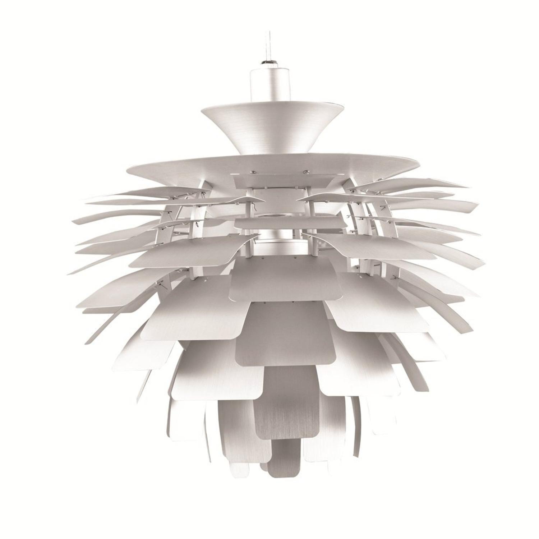 Lamp In Artichoke Leaf Design Silver Finish - image-0