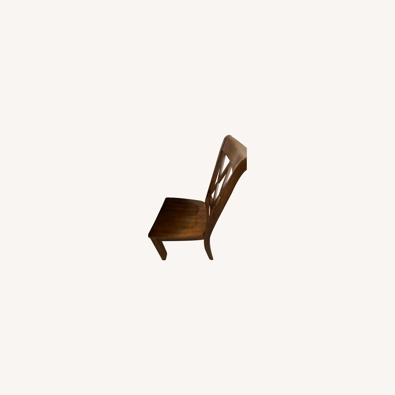 Pier 1 Dark Wood Dining Chairs - image-0