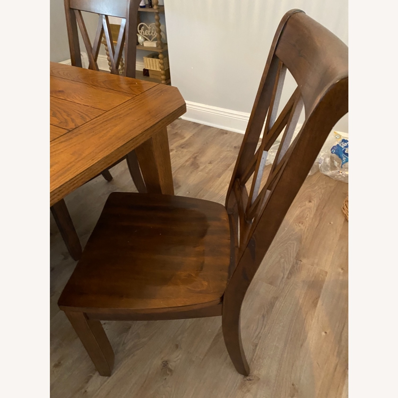 Pier 1 Dark Wood Dining Chairs - image-3