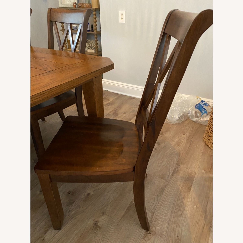 Pier 1 Dark Wood Dining Chairs - image-6