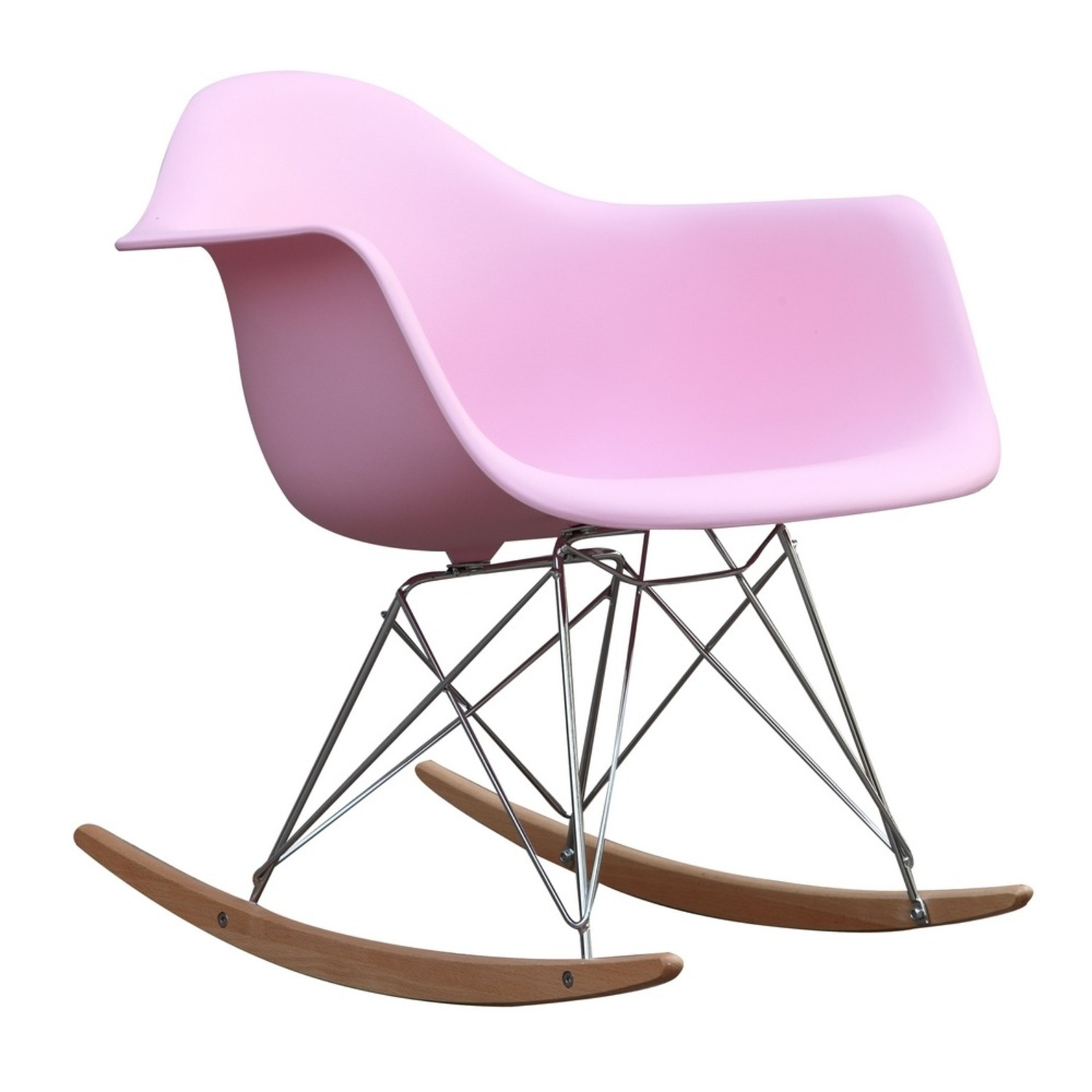 Rocker Arm Chair Made In Pink ABS Frame - image-0