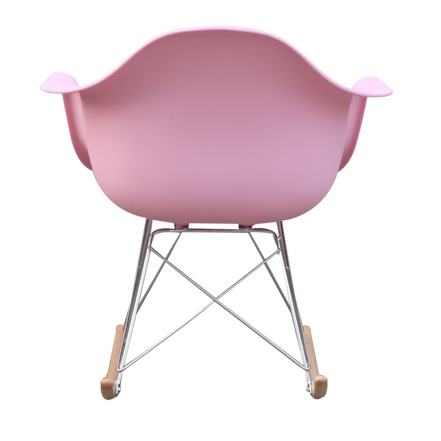 Rocker Arm Chair Made In Pink ABS Frame - image-2