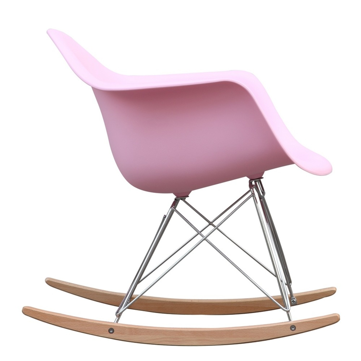 Rocker Arm Chair Made In Pink ABS Frame - image-1