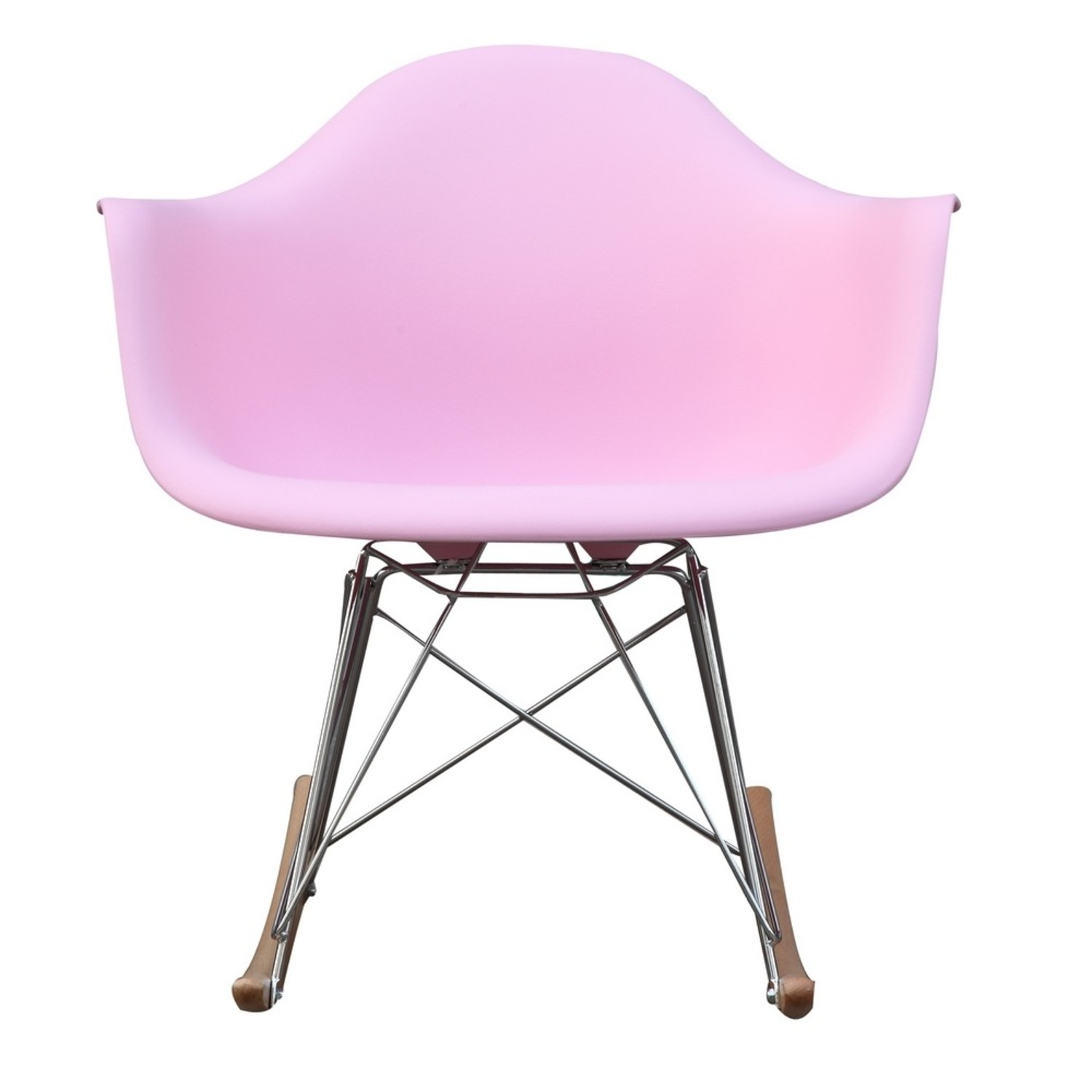 Rocker Arm Chair Made In Pink ABS Frame - image-5