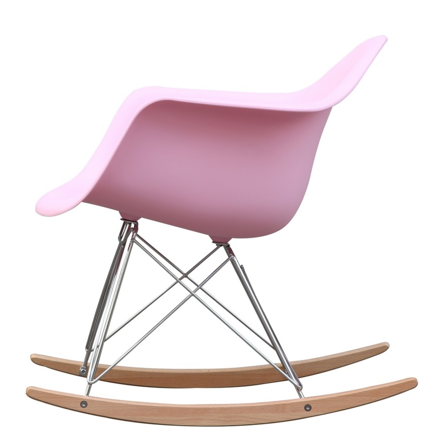 Rocker Arm Chair Made In Pink ABS Frame - image-3