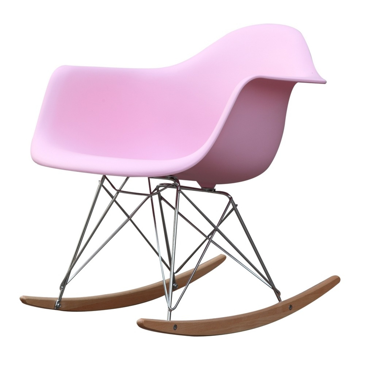 Rocker Arm Chair Made In Pink ABS Frame - image-4