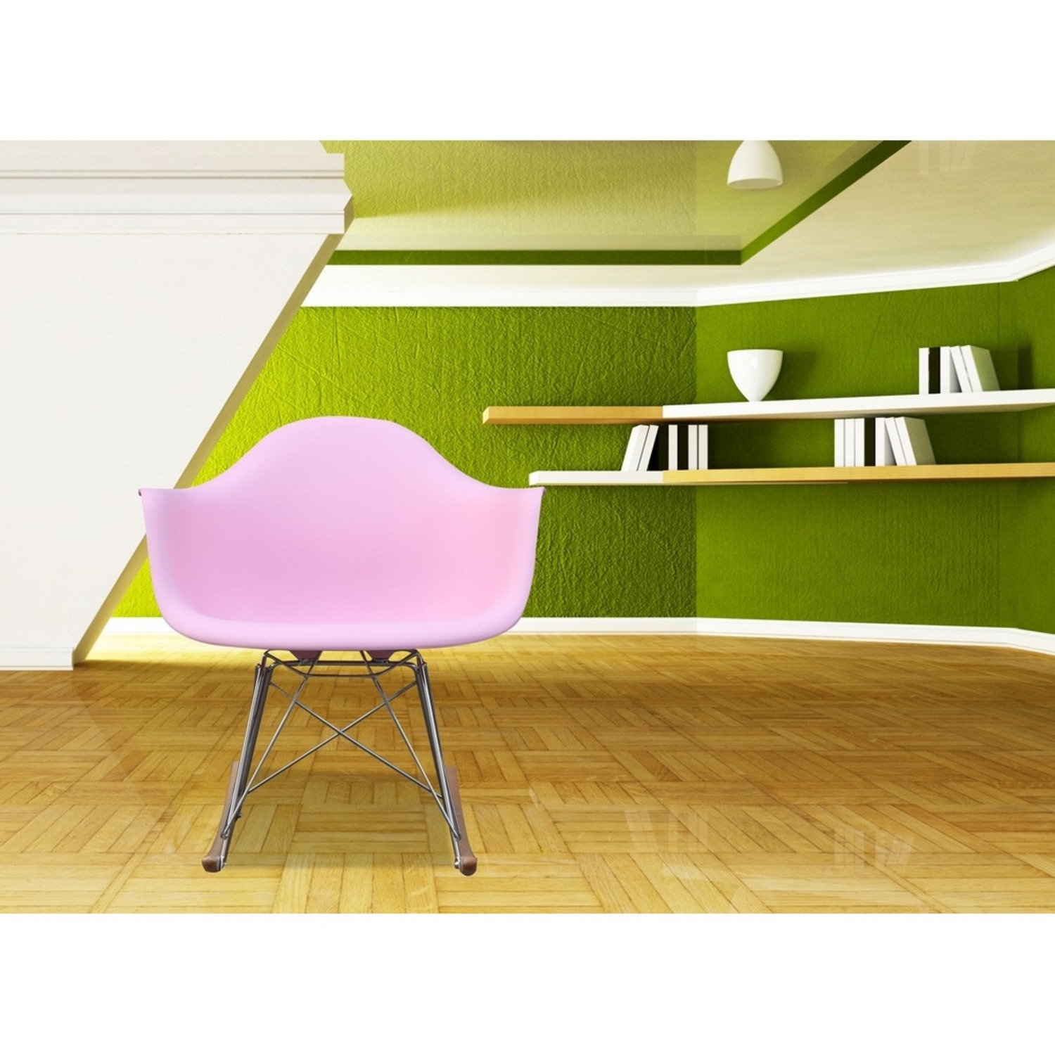 Rocker Arm Chair Made In Pink ABS Frame - image-6
