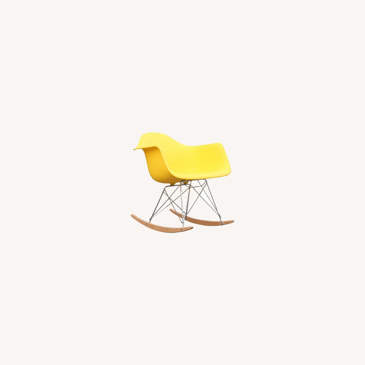 Rocker Arm Chair Made In Yellow ABS Frame - image-7