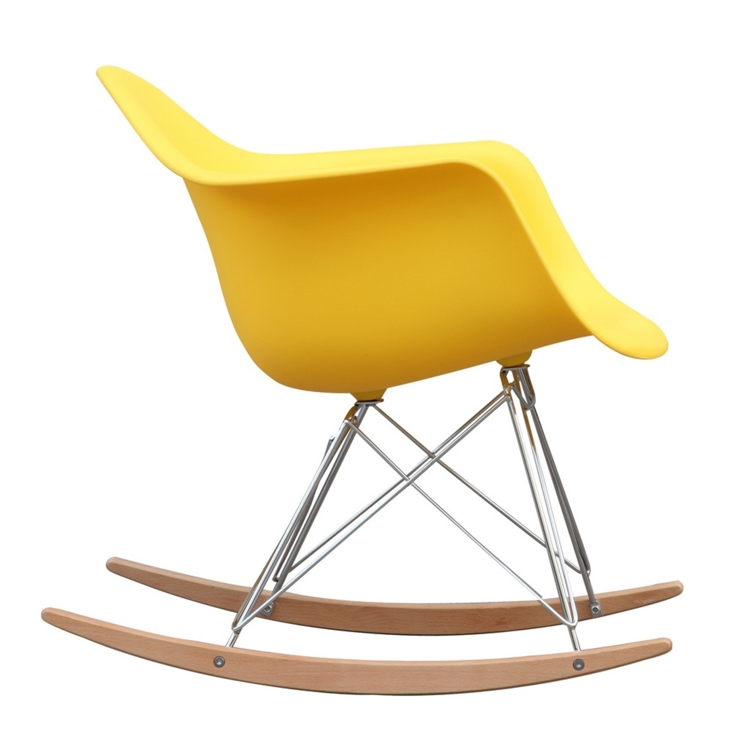 Rocker Arm Chair Made In Yellow ABS Frame - image-1