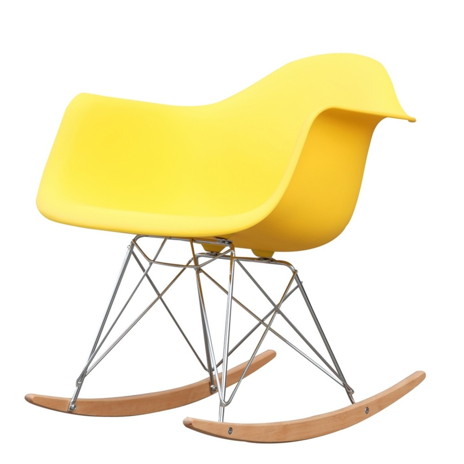 Rocker Arm Chair Made In Yellow ABS Frame - image-4