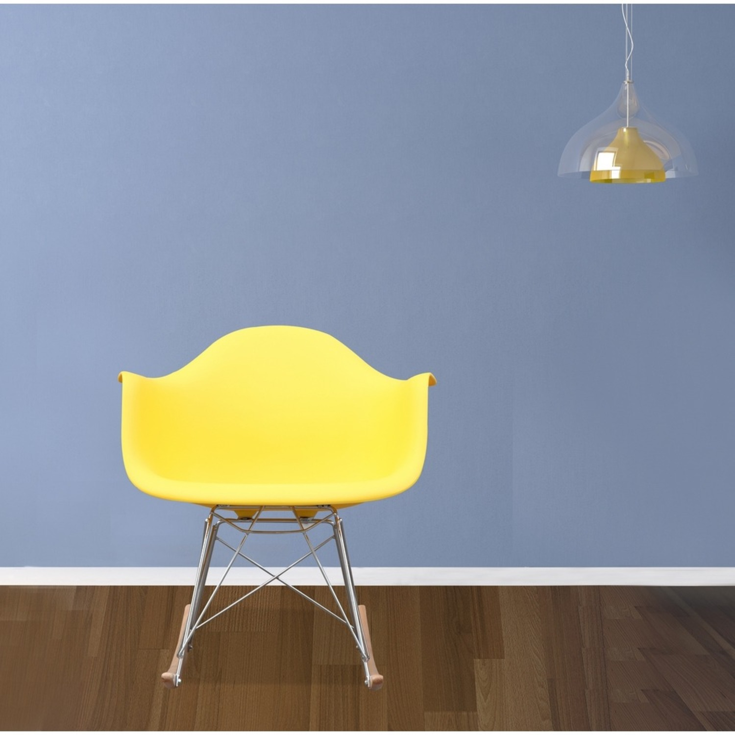Rocker Arm Chair Made In Yellow ABS Frame - image-6