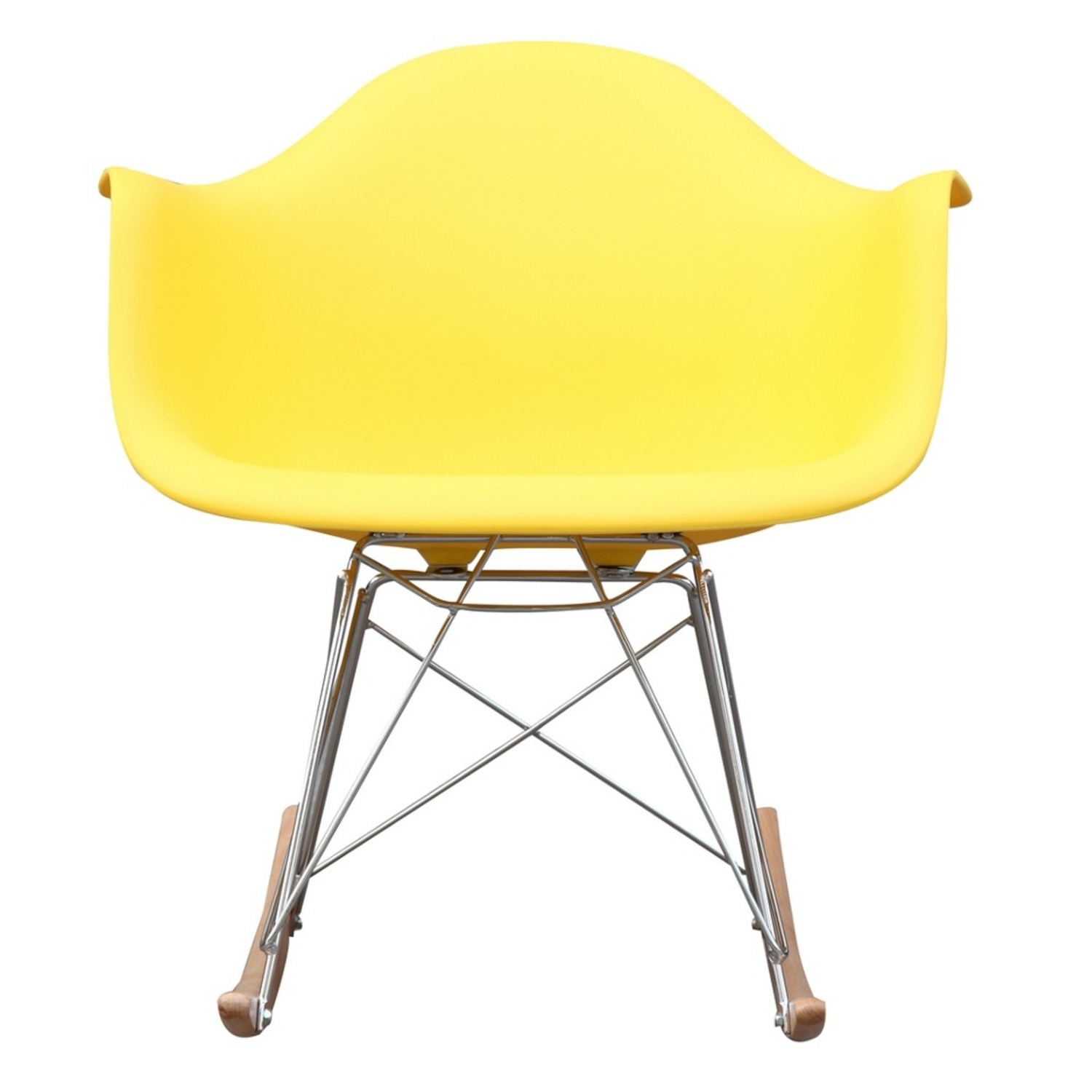 Rocker Arm Chair Made In Yellow ABS Frame - image-5