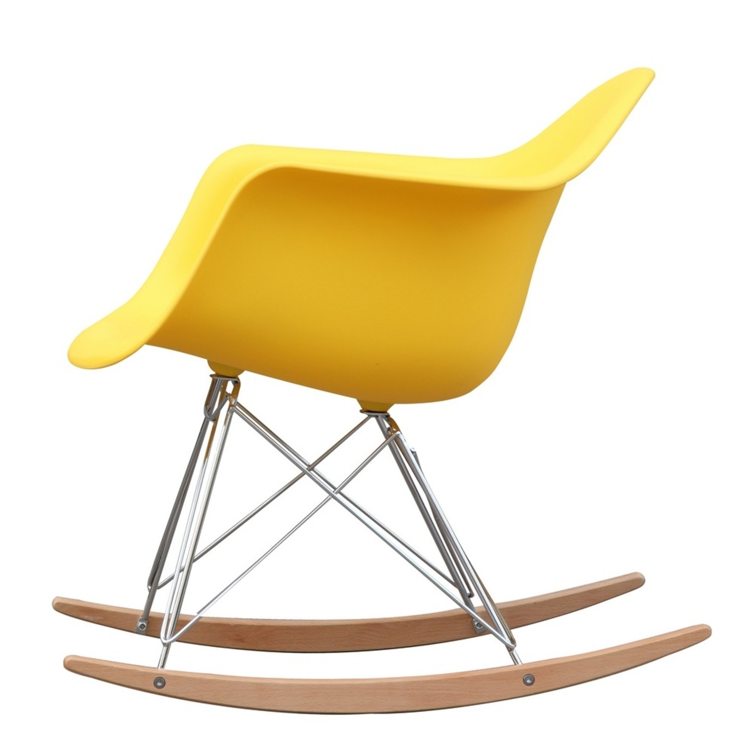 Rocker Arm Chair Made In Yellow ABS Frame - image-3