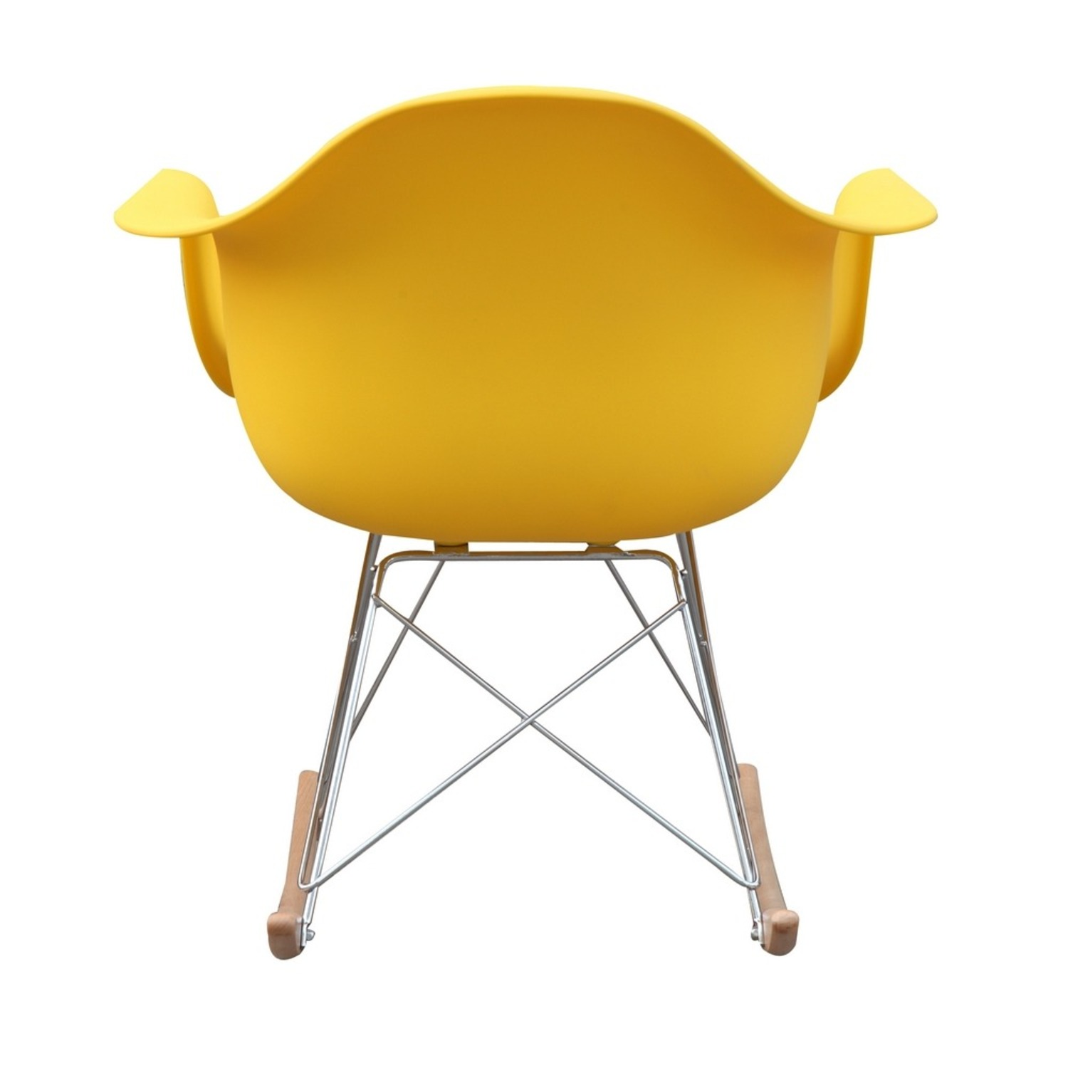 Rocker Arm Chair Made In Yellow ABS Frame - image-2