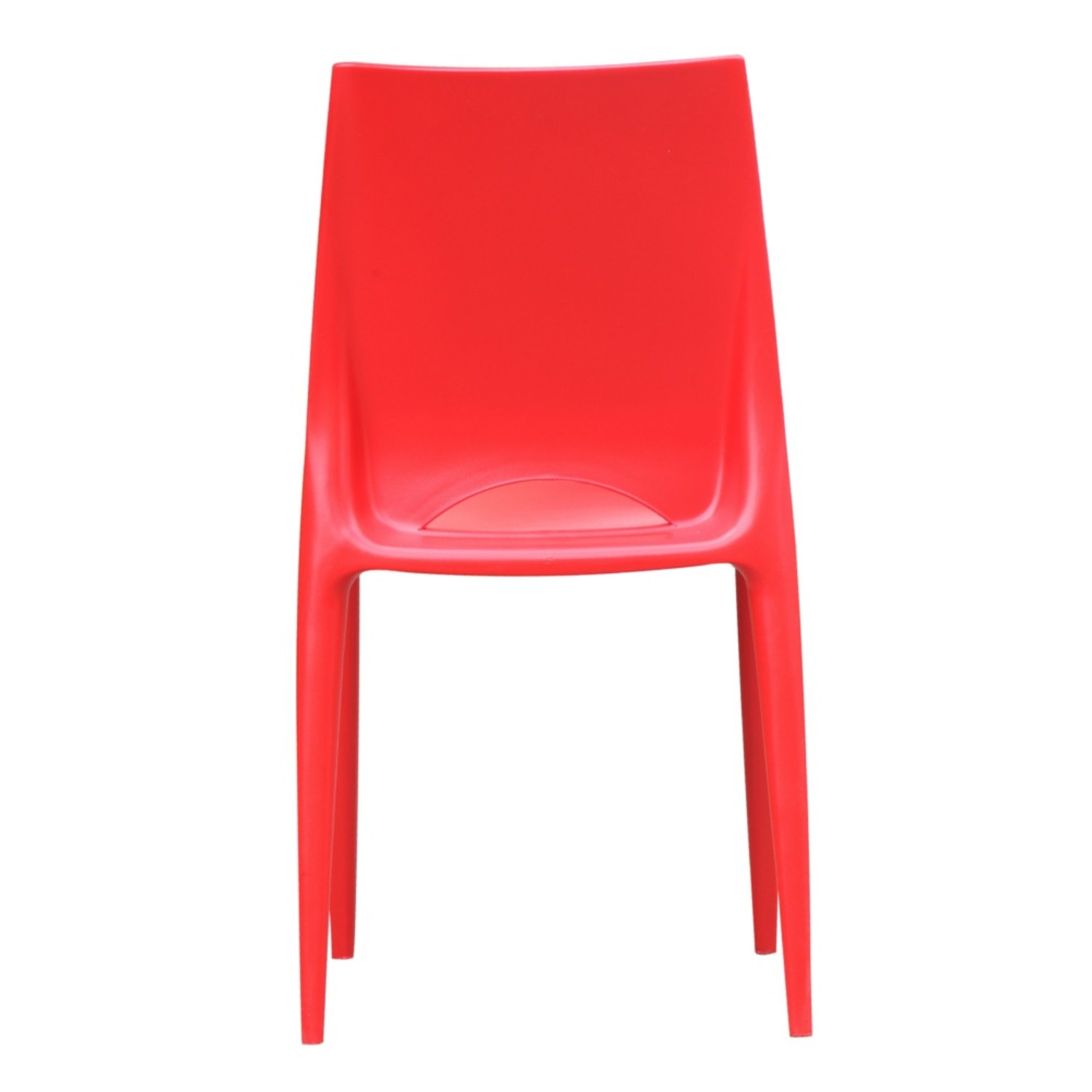 Dining Chair In Square-Shaped Red Finish - image-2