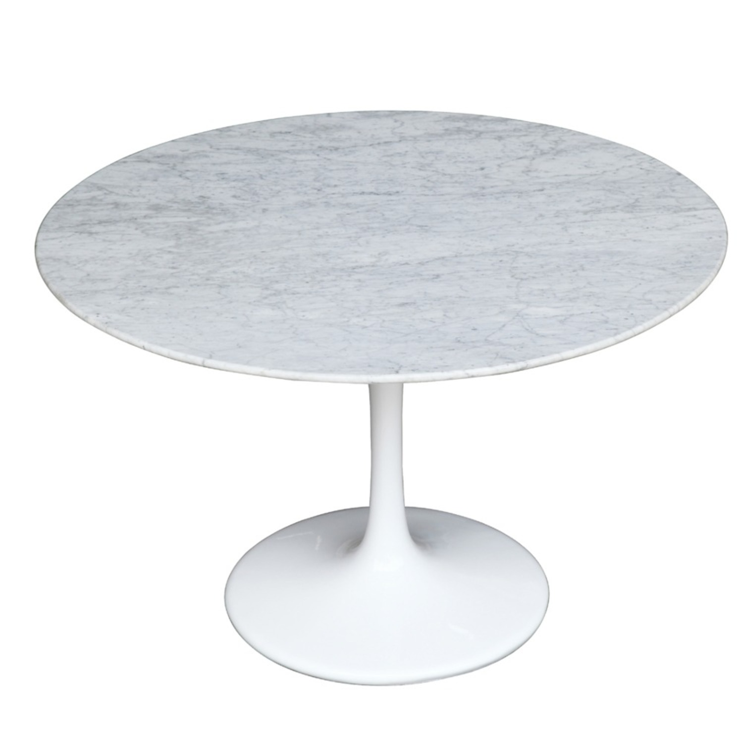 32-Inches Dining Table In White Faux Marble - image-3