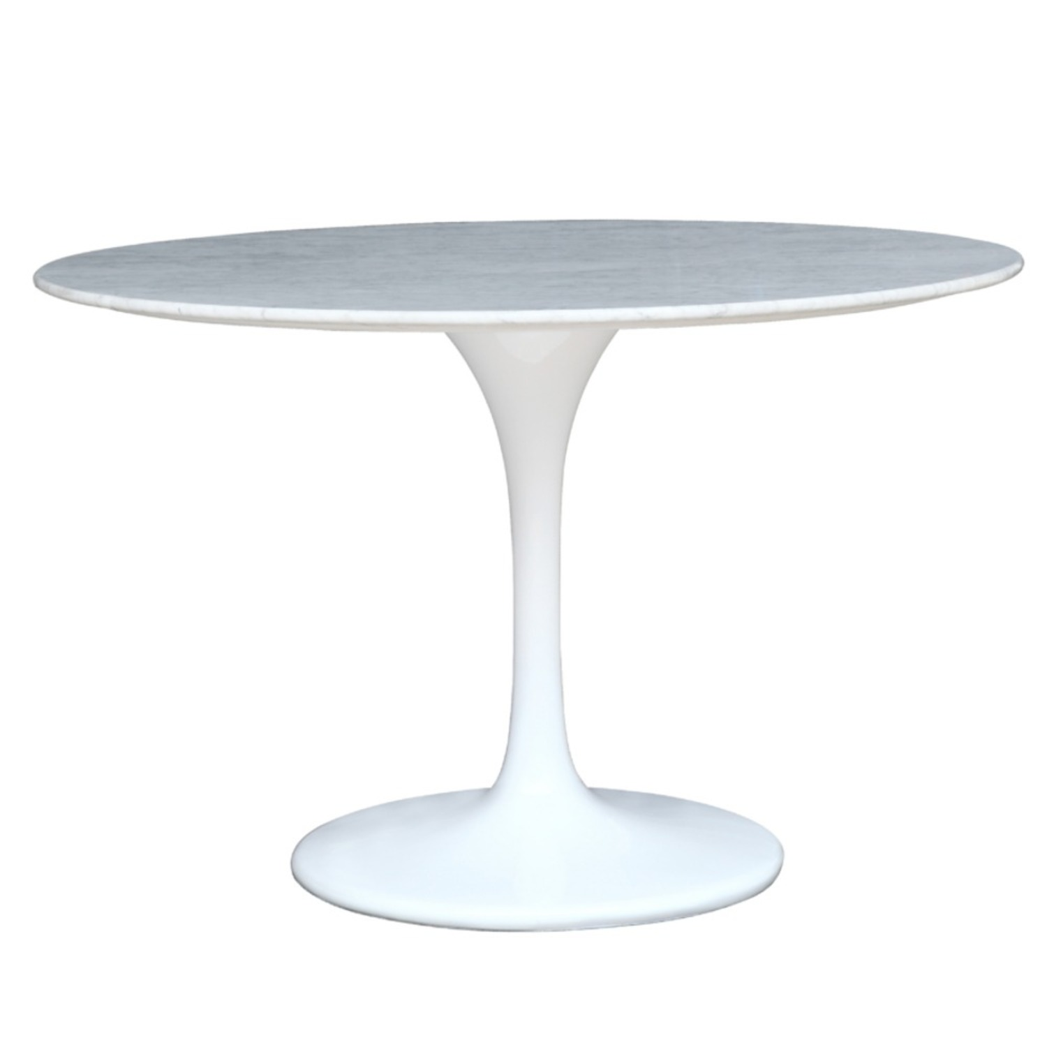 32-Inches Dining Table In White Faux Marble - image-1