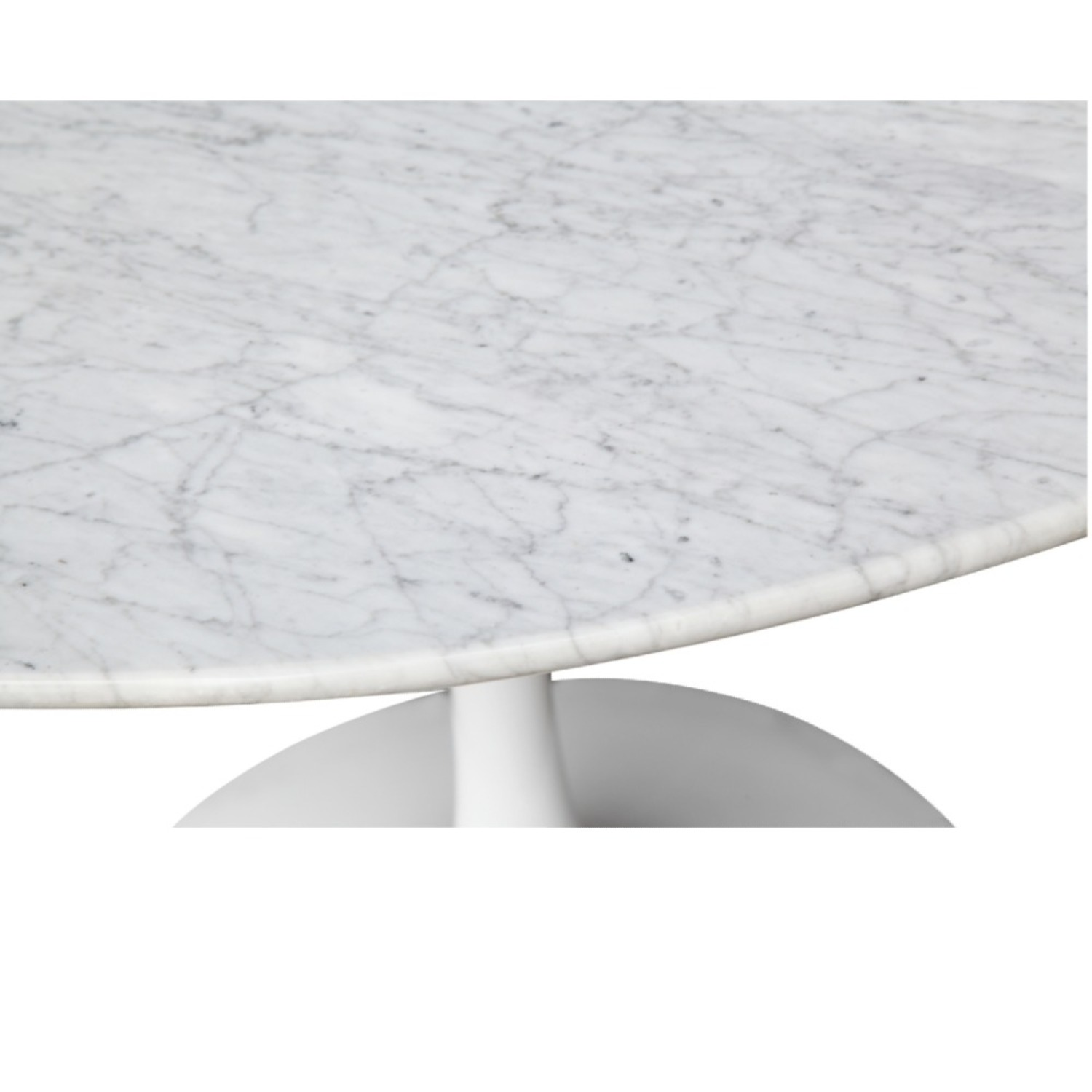 32-Inches Dining Table In White Faux Marble - image-5