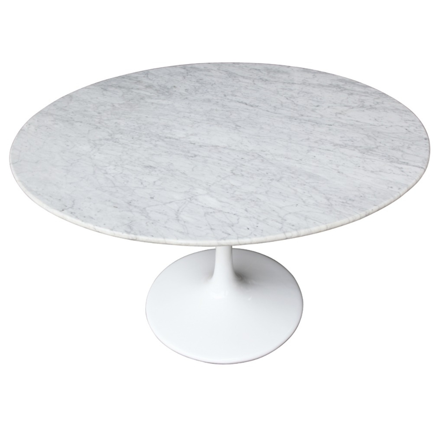 32-Inches Dining Table In White Faux Marble - image-4