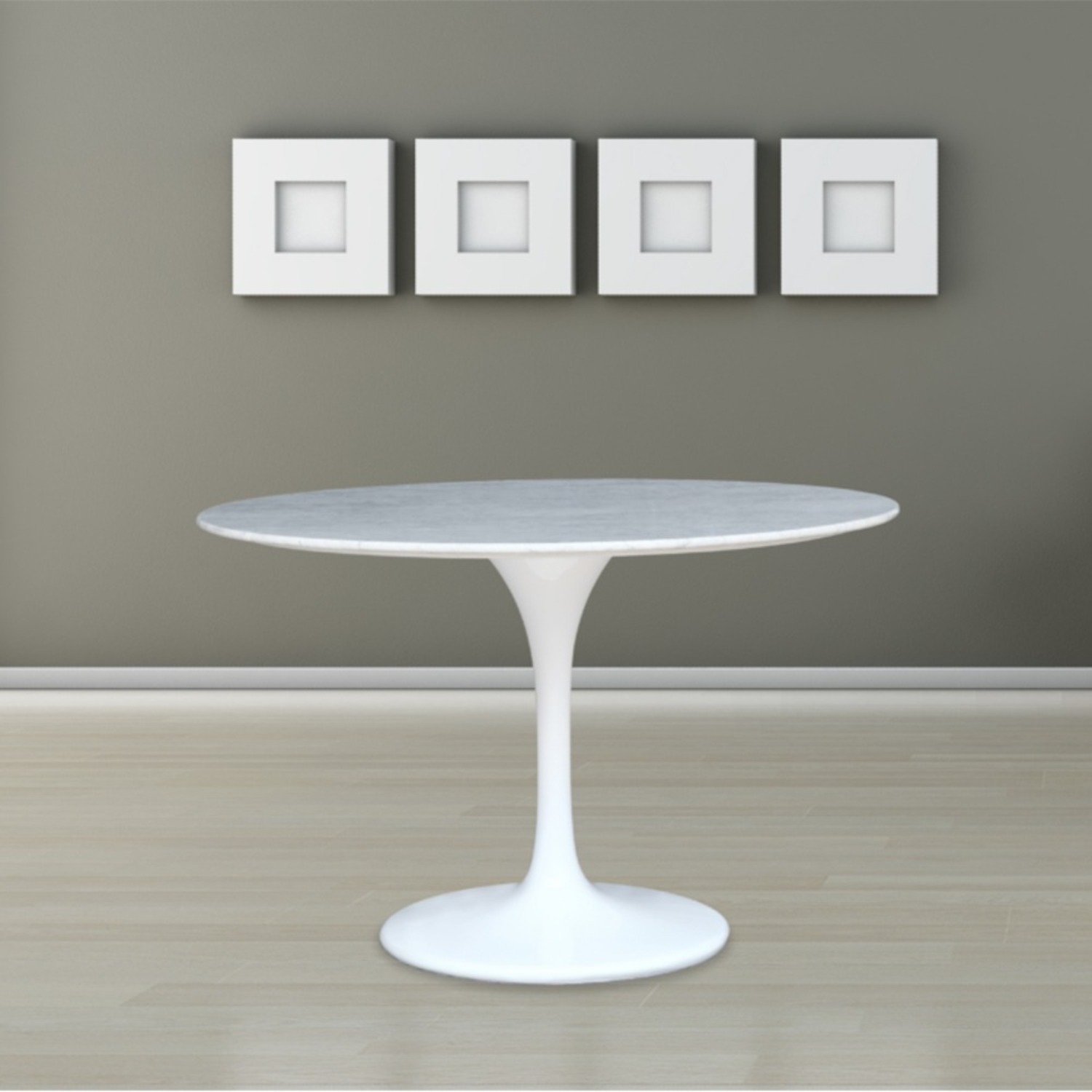 32-Inches Dining Table In White Faux Marble - image-6