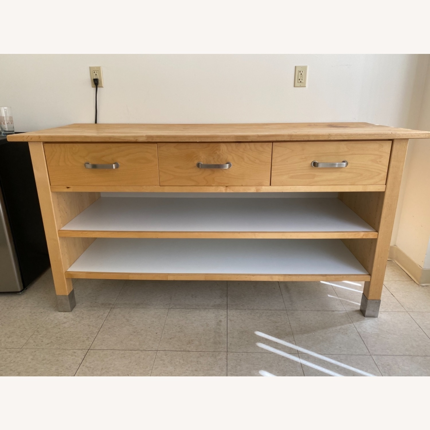 IKEA Kitchen Workstation and cabinet - image-0