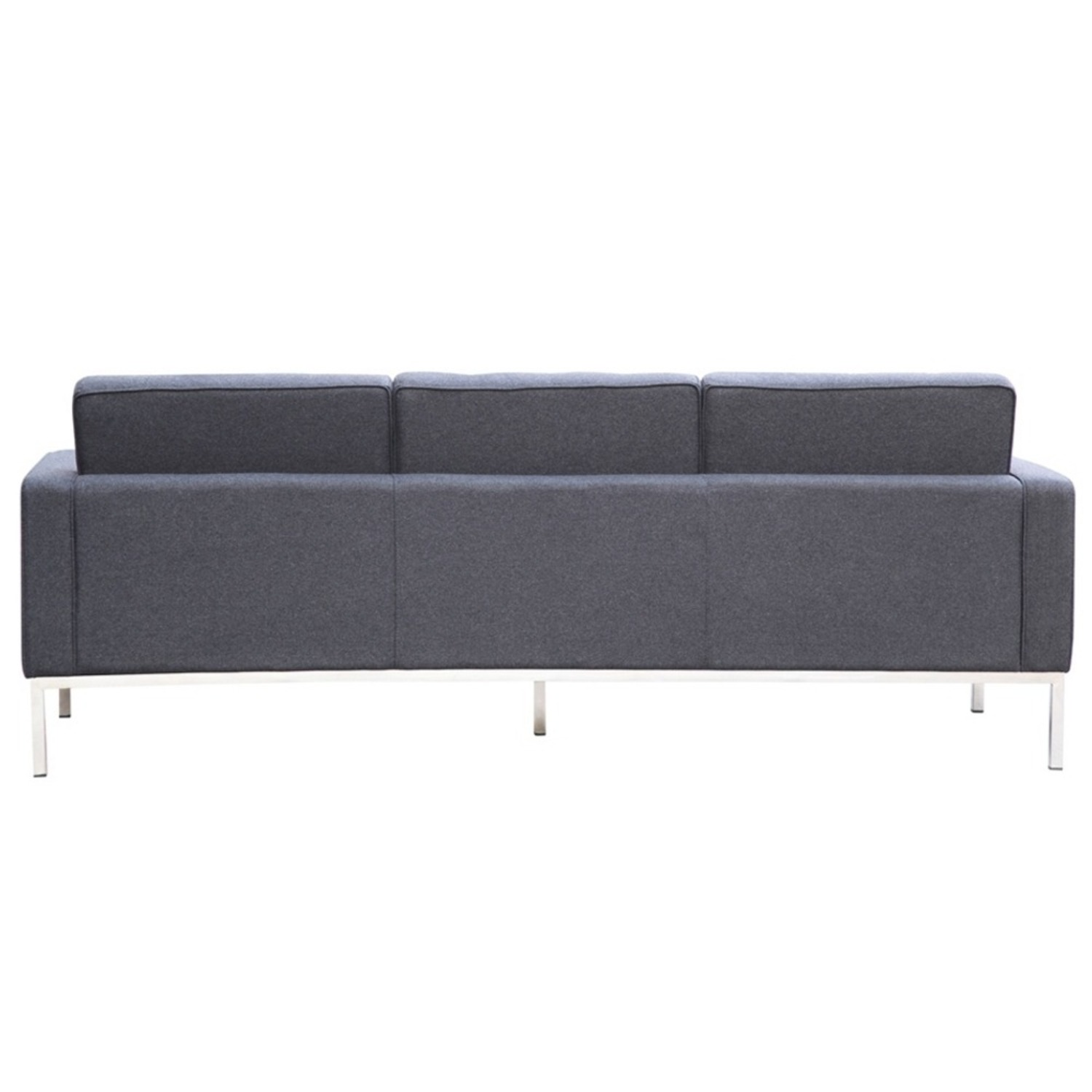 Contemporary Sofa In Gray Wool Fabric - image-2