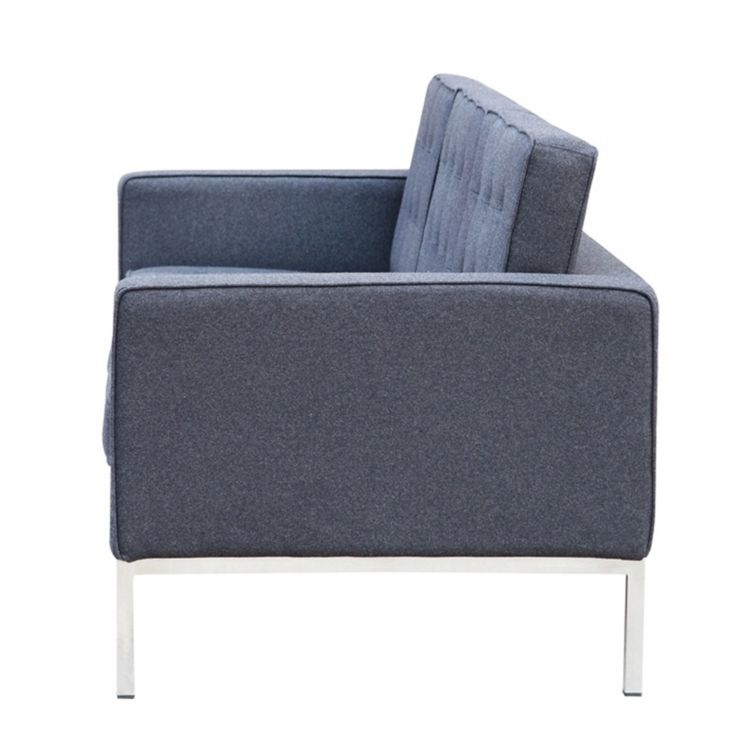 Contemporary Sofa In Gray Wool Fabric - image-3