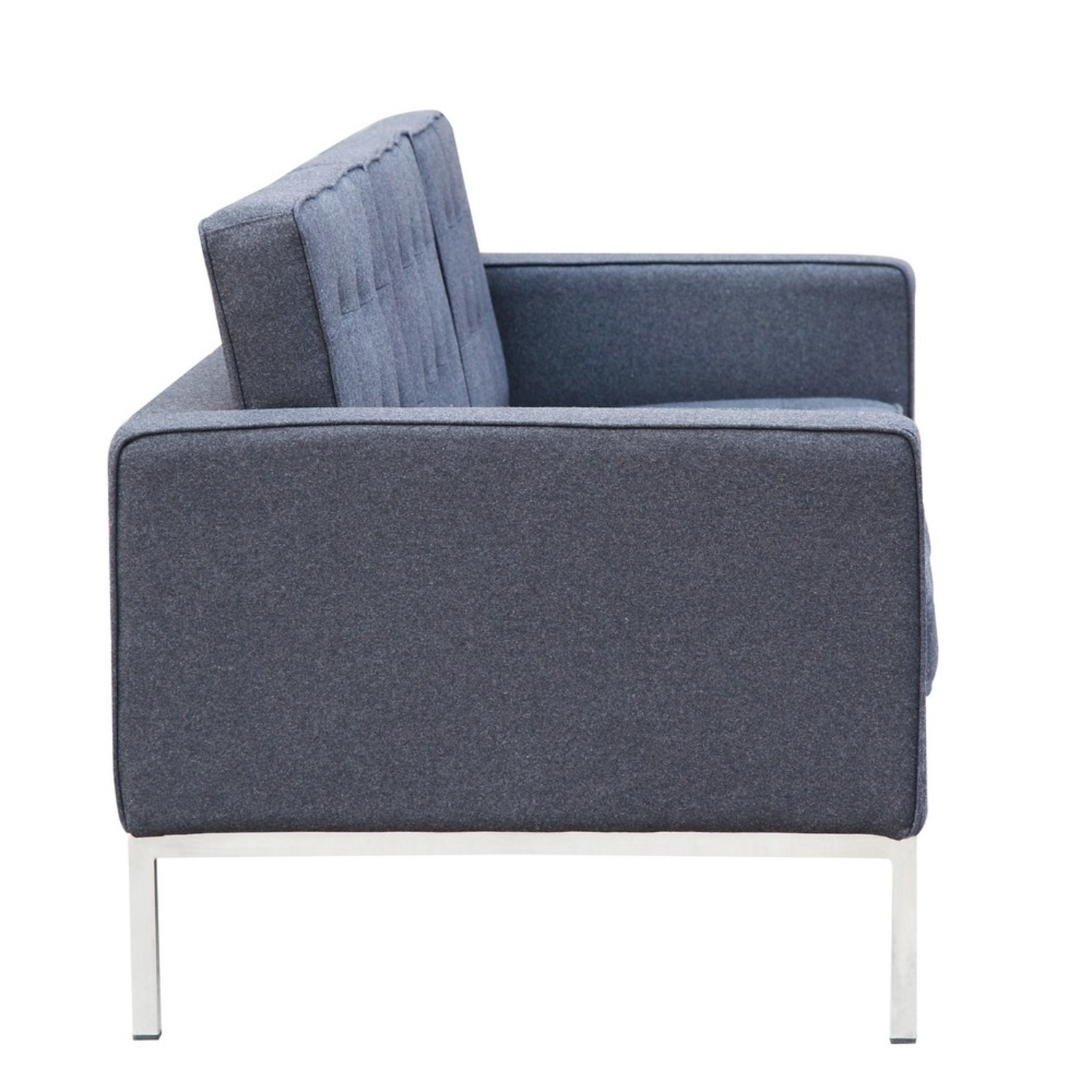 Contemporary Sofa In Gray Wool Fabric - image-1