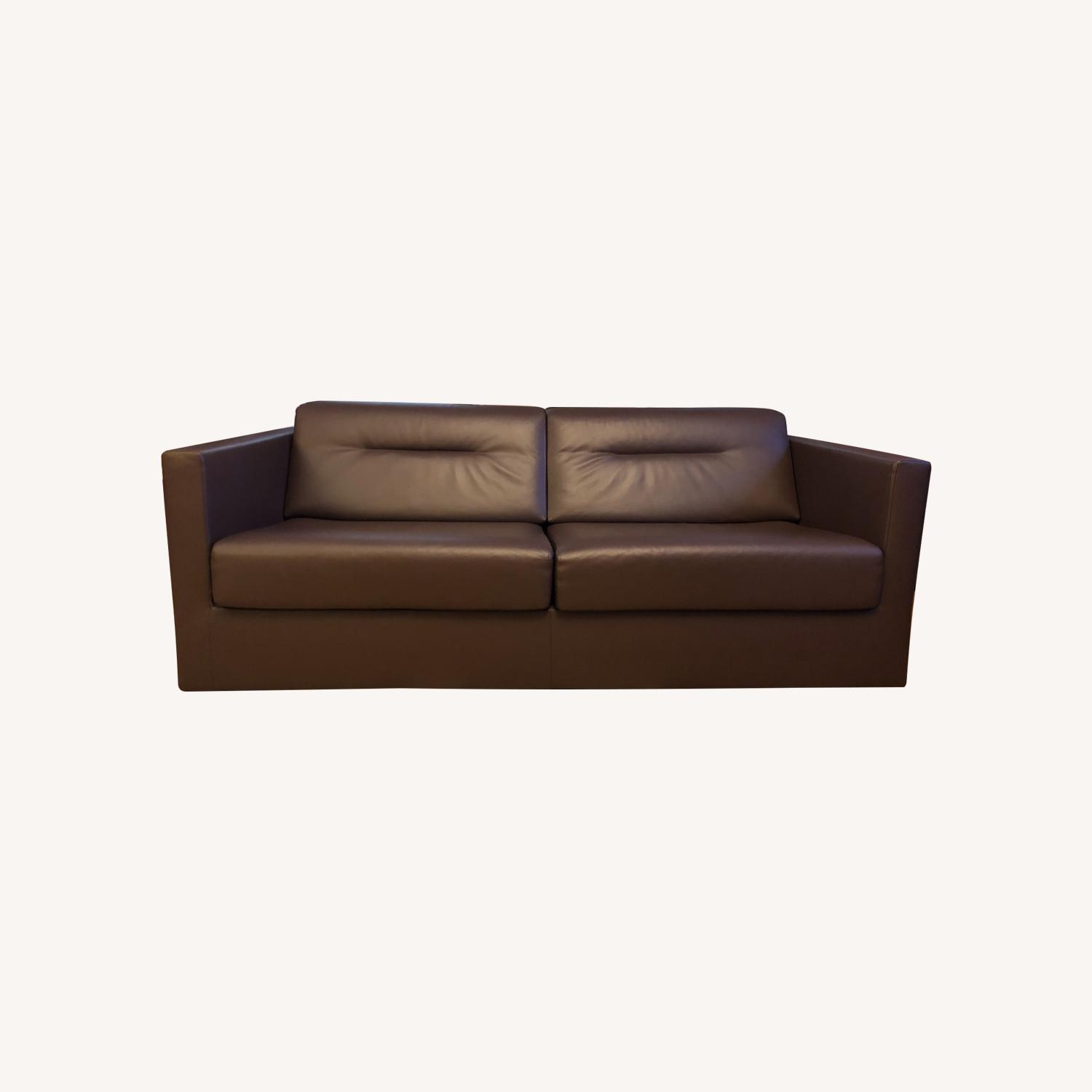 Ligne Roset leather sofa bed - image-0