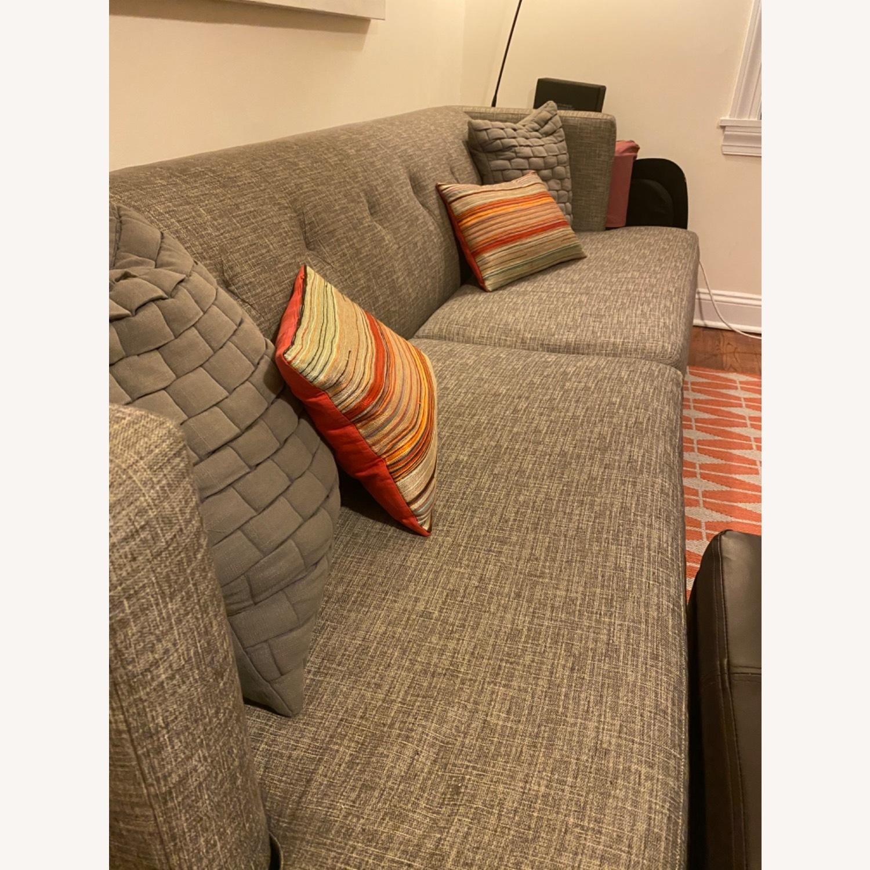 CB2 Avec Mushroom Tweed Sofa - image-2