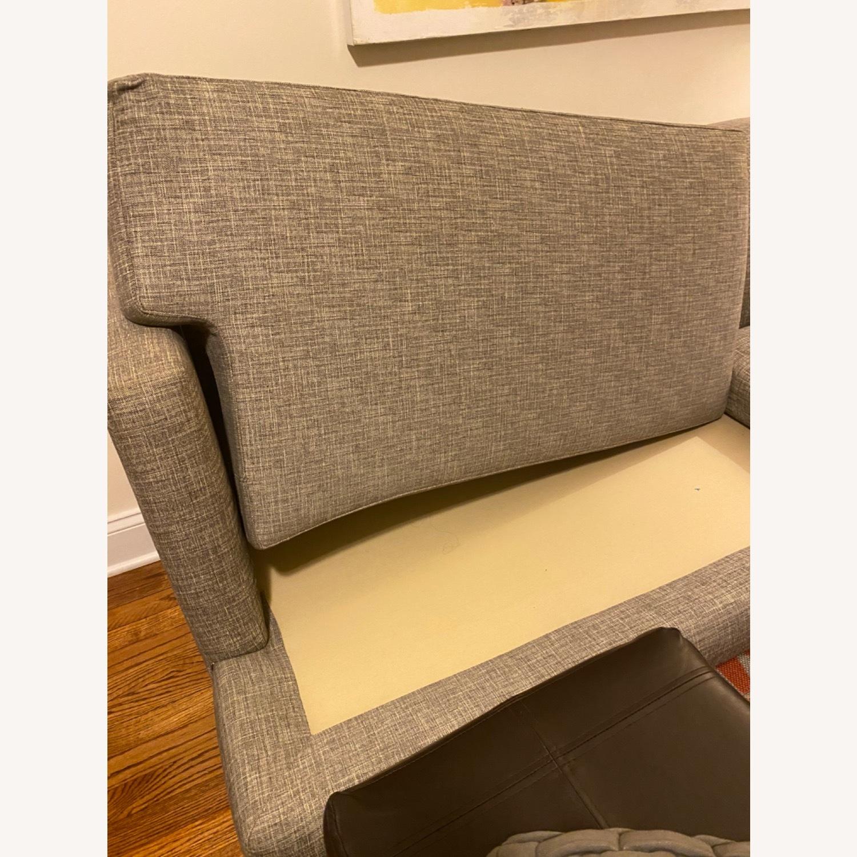 CB2 Avec Mushroom Tweed Sofa - image-3