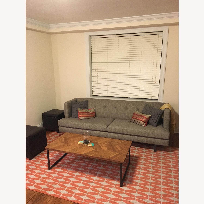 CB2 Avec Mushroom Tweed Sofa - image-1
