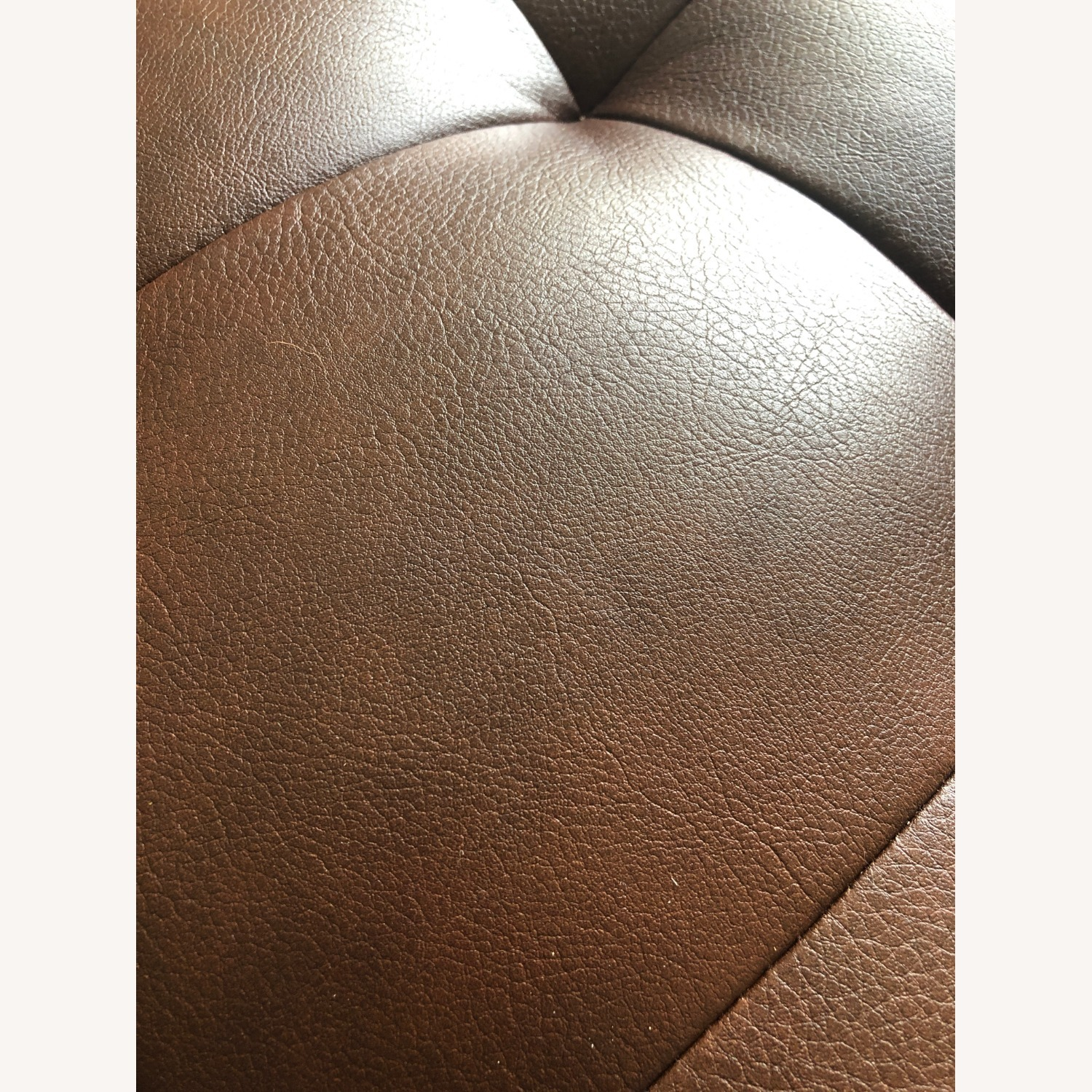 Raymour & Flanigan Leather Chaise and Ottoman - image-5