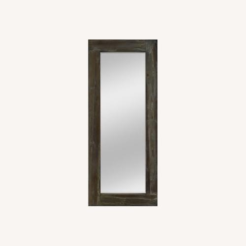 Used Rustic Wood Freestanding Floor Mirror for sale on AptDeco