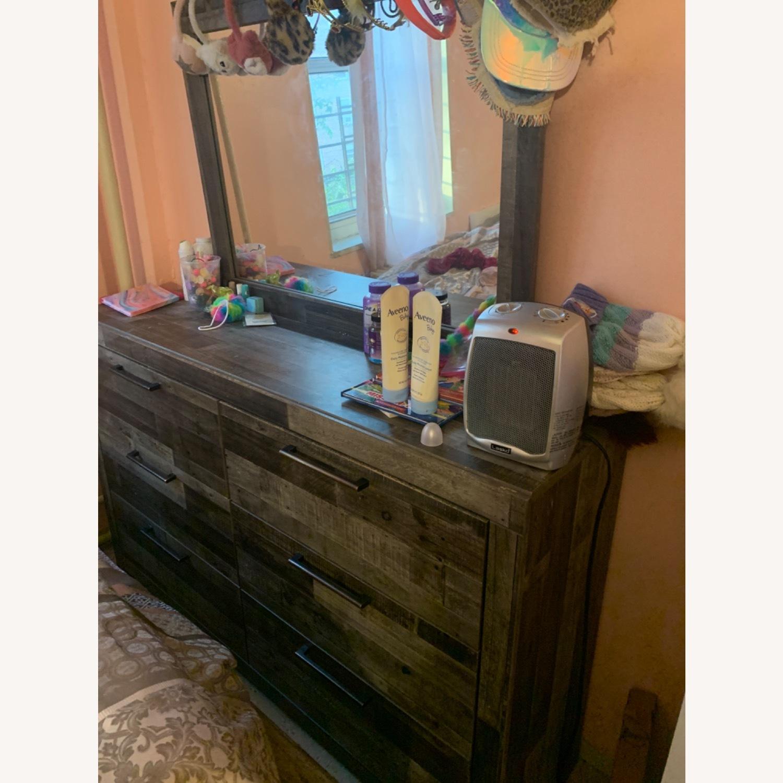Dark Brown Mirror Dresser - image-1