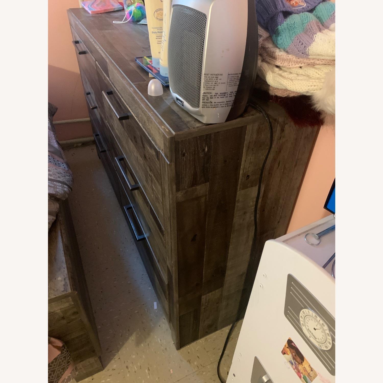 Dark Brown Mirror Dresser - image-2