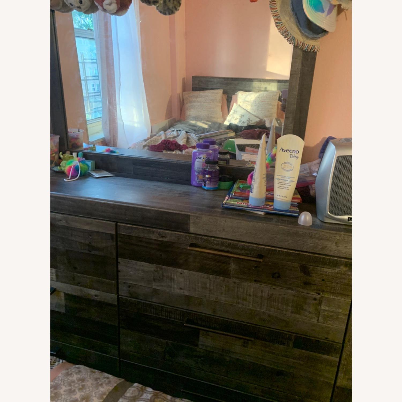 Dark Brown Mirror Dresser - image-3