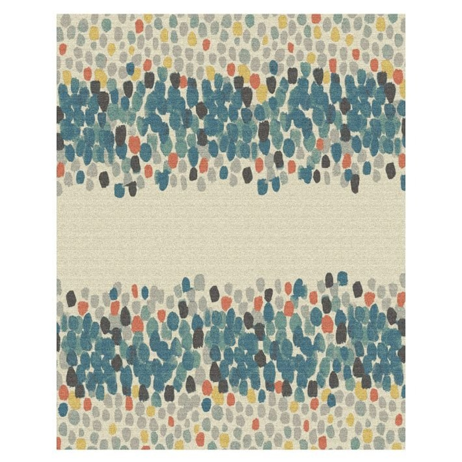 West Elm Watercolor Mosaic Rug Papaya  - image-1